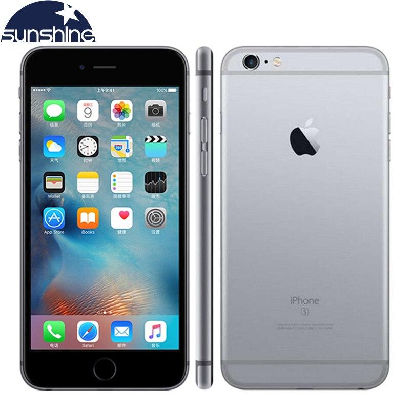 Original Da Apple iPhone LTE Mobile phone 16 6 S/64/2 GB de RAM de 128 GB ROM 4.7 polegada 12MP Câmera Dual Core celular Desbloqueado