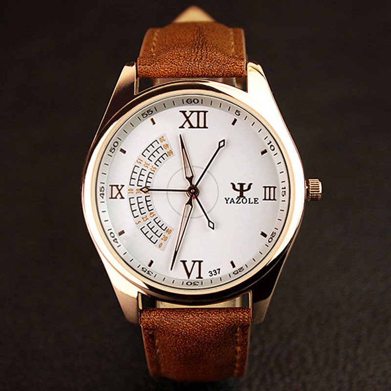 Three Seconds Needle Men Watch Luxury Top Brand Business Male Quartz Wristwatch Leisure Fashion Leather Quartz
