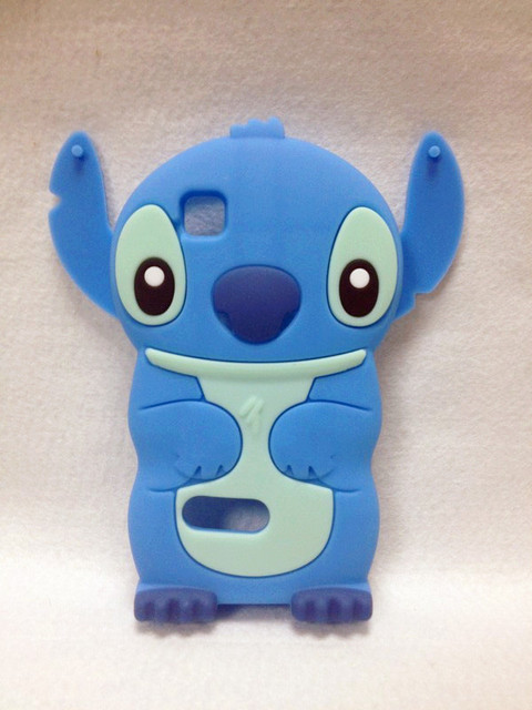 Lovely Stitch 3D Silicone Case For .Nokia Asha 200 High Quality Cell Phone Case Silicone