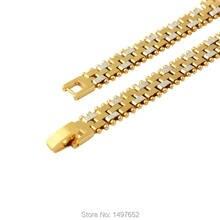 Adixyn europa e américa desigh larga 5mm cor do ouro braceletsjewelry nobre das mulheres dos homens pulseiras/bangles atacado