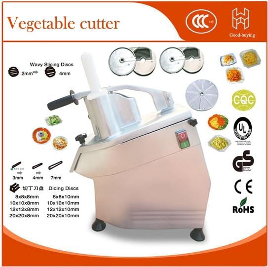 food processor electric fruit vegetable cutter with 4 blades potato cutting machine restaurant kitchen applicance wavelets processor