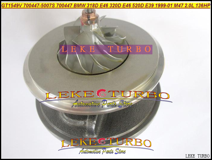 цена на Turbo Cartridge Chra Core GT1549V 700447-5008S 700447-5007S 700447 Turbocharger For BMW 318D 320D E46 520D E39 1999-01 M47 2.0L