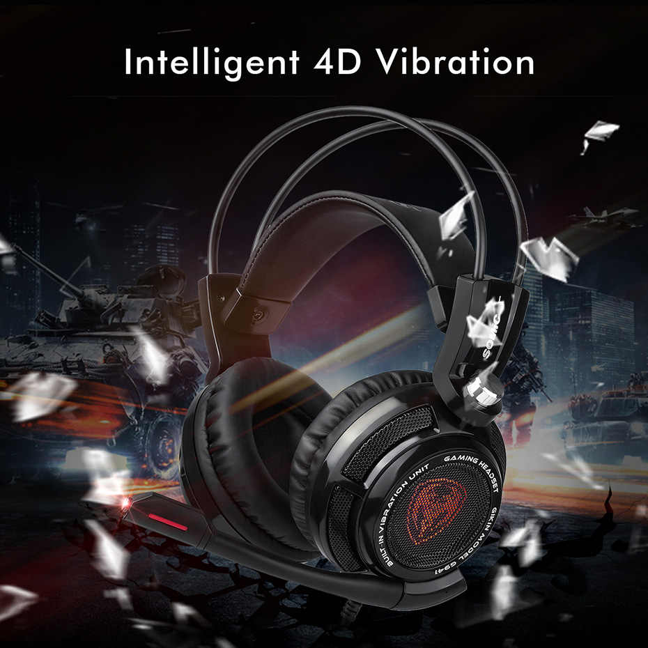 95e7716aa83 ... Somic G941 USB 7.1 Virtual Surround Sound Gaming Headset Headphones  with Microphone Stereo Bass Vibration for ...