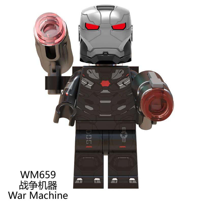 Endgame Thanos Thor Iron Man หมวก Marvel Black Widow Ronin Avengers 4 อาคารบล็อกของเล่นเด็ก WM6056