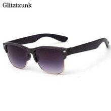 JAXIN New Trendy Sunglasses Metallic Wood Men and Women Classic Popular Eyewear Grain UV400
