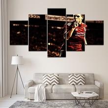 Canvas Painting football player Steven Gerrard 5 Pieces Wall Art Painting Modular Sport Wallpapers Poster Print Home Decor фигурка england steven gerrard