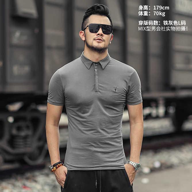 Camisa de Polo dos homens de Alta Qualidade Homens Sólidos Camisas de Algodão camisa de Manga Curta Marcas Verão Camisas pólo Homens 3XL