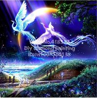 New 5d Diy Diamond Painting Birds Lover Phoenix Cross Stitch Square Rhinestone Pictures Of Crystals Embroidery