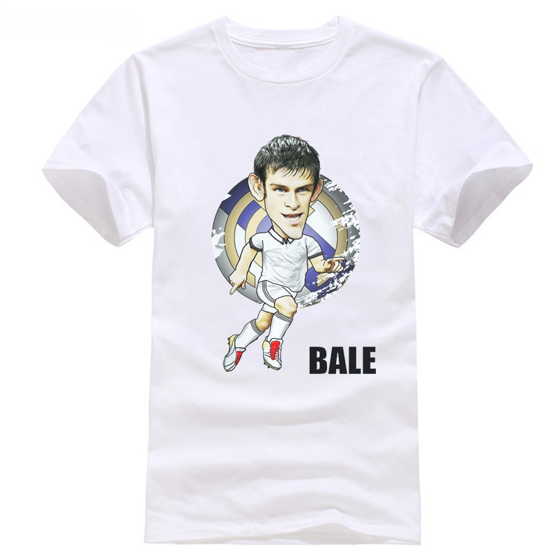 T-shirt of Bale real soccering short sleeve men kids fans gifts Funny Tees Men Short