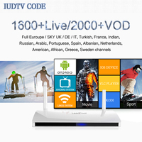 Updated IUDTV IPTV CODE 1300 European Channels Android Mini PC 1 Year Subscription