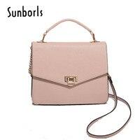 Women Bag Handbag Casual Tote Fashion Women Messenger Bags Shoulder Top Handle Leather 2018 New Black pink 2e6294