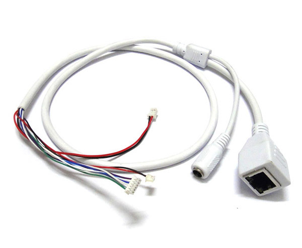 CCTV IP network Camera PCB Module video power cable RJ45 female & DC male connectors with Terminlas