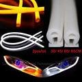 2pcs/lot car headlights daytime running light 12v 30cm 45cm 60cm 85cm supper bright flexible soft tube LED DRL bar strip lights
