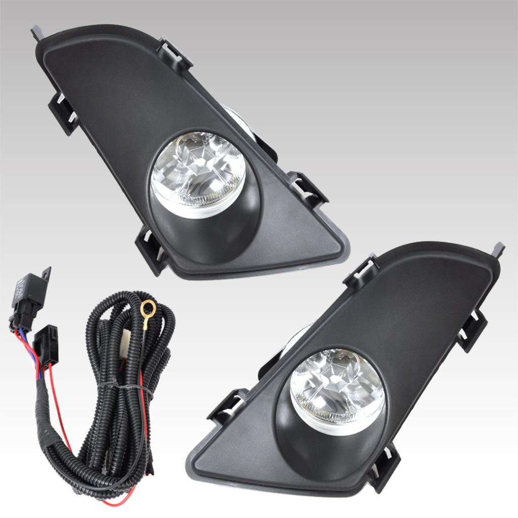 ФОТО Brand New High Quality Plastic Front Right & Left Clear Fog Lights Lamp Lens With Wiring Kit For Mazda 6 2003 2004 2005 Tracking