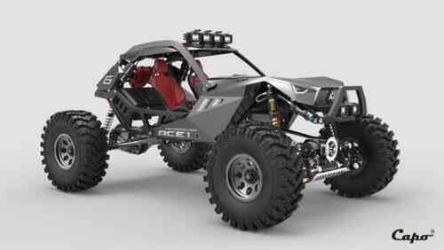 Capo 1/10 RC carreras ACE1 KIT de modelo de los chasis de Metal 4WD Rock Crawler coche Commander2