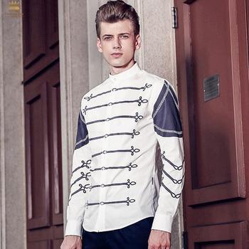 e08ceb86a FANZHUAN destacados marcas camisa moda jóvenes Hombres camisa de manga  corta personaje Graffiti ...