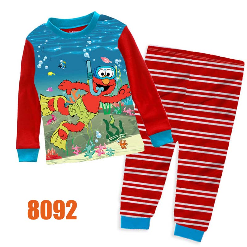 Wholesale Baby Boys Red Elmo Clothes Kids Cartoon Clothing