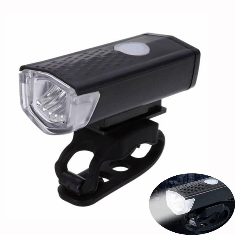 ROBESBON Rechargeable Bike Headlight Front Light 300 Lumen Bike Waterproof 6000K Bicycle Flashlight Dynamo Light Front Lights
