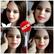New real people mouth doll WMdoll Customer Made No134 Milla ORAL doll HEAD sex doll's head only head For Man Masturbation