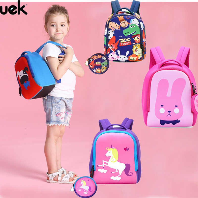 6fb8f7309427 UEK high quality kids backpack Animals Printing children kindergarten boy   girls school bags Children backpacks for