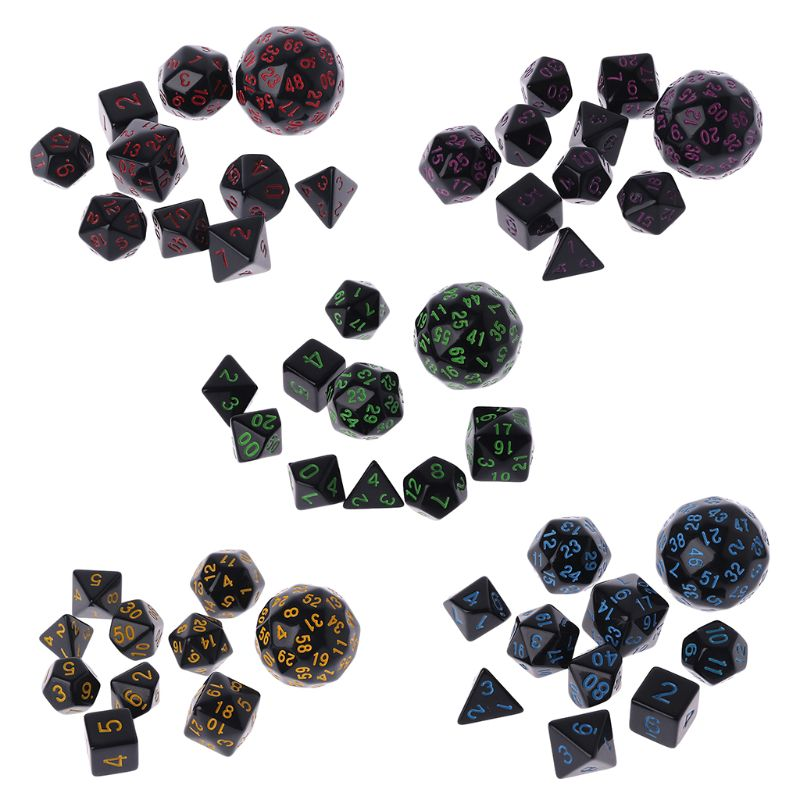 10 Pcs/Set Game Dice Multi Sided Dices Mixing Party Games Club Gifts Creative Adult Children For Dungeon D & D Games Play