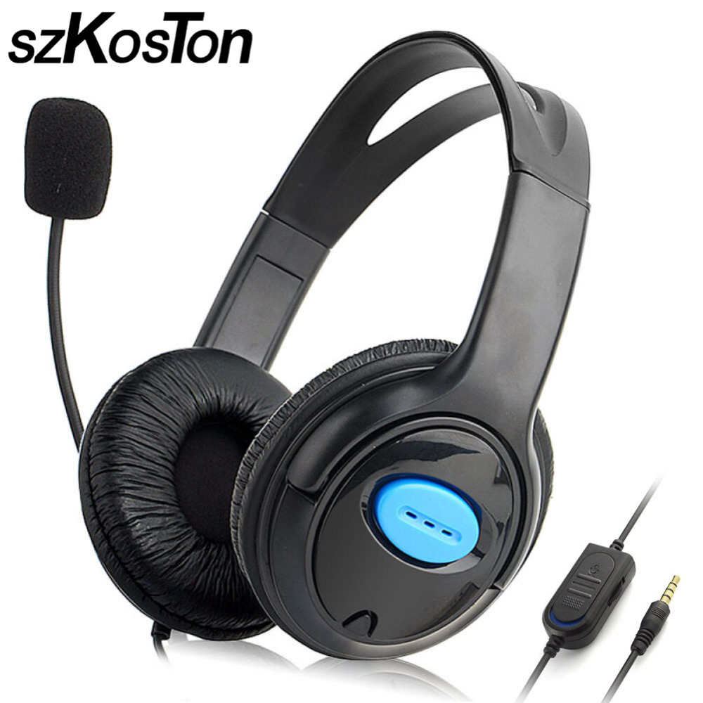Gaming Headset For Sony PlayStation 4 Gaming Headphones Headband Game Headset for Xiaomi with Mic 3.5mm Wired Earphone for PS4