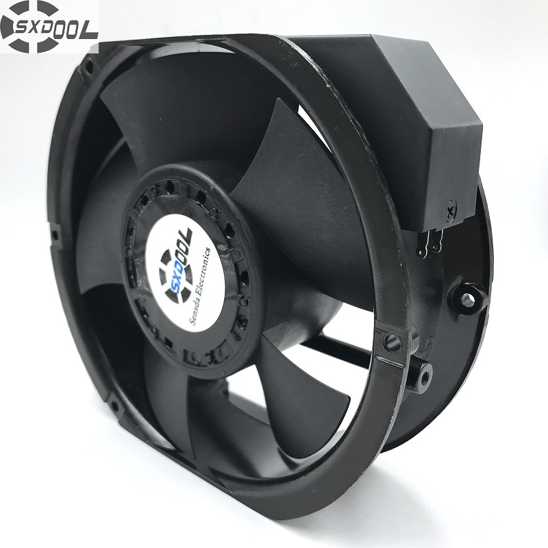 SXDOOL industrial fan 6C-230HB C 1751 17251 17cm AC 220V capacitor run type case cooling 172*150*51MM 2850/3400 RPM 198/235CFM f2e 150b 230 axial cooling fan ac 220v 240v 0 22a 38w 2600rpm 17250 17cm 172 150 50mm 2 wires 50 60hz