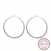 Серьги кольца женские круглые из серебра 925 пробы 5/7 см