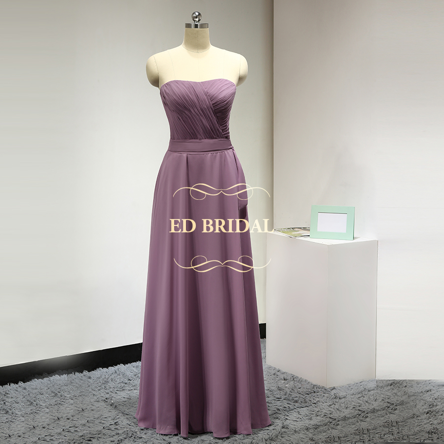 Online get cheap customized bridesmaid dresses aliexpress custom made a line chiffon pale mauve bridesmaid dresses long party gown women formal dress robe ombrellifo Choice Image