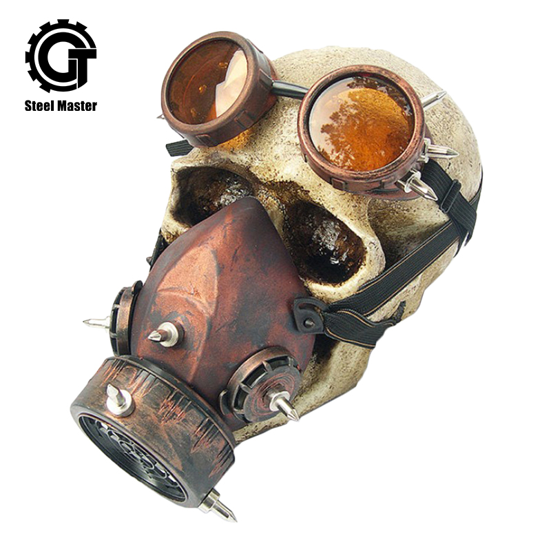 Back To Search Resultsnovelty & Special Use Black Plastic & Bronze Resin Rivet Retro Rock Full Face Respirator Gas Mask Goggles Halloween Gothic Accessories Steampunk Props