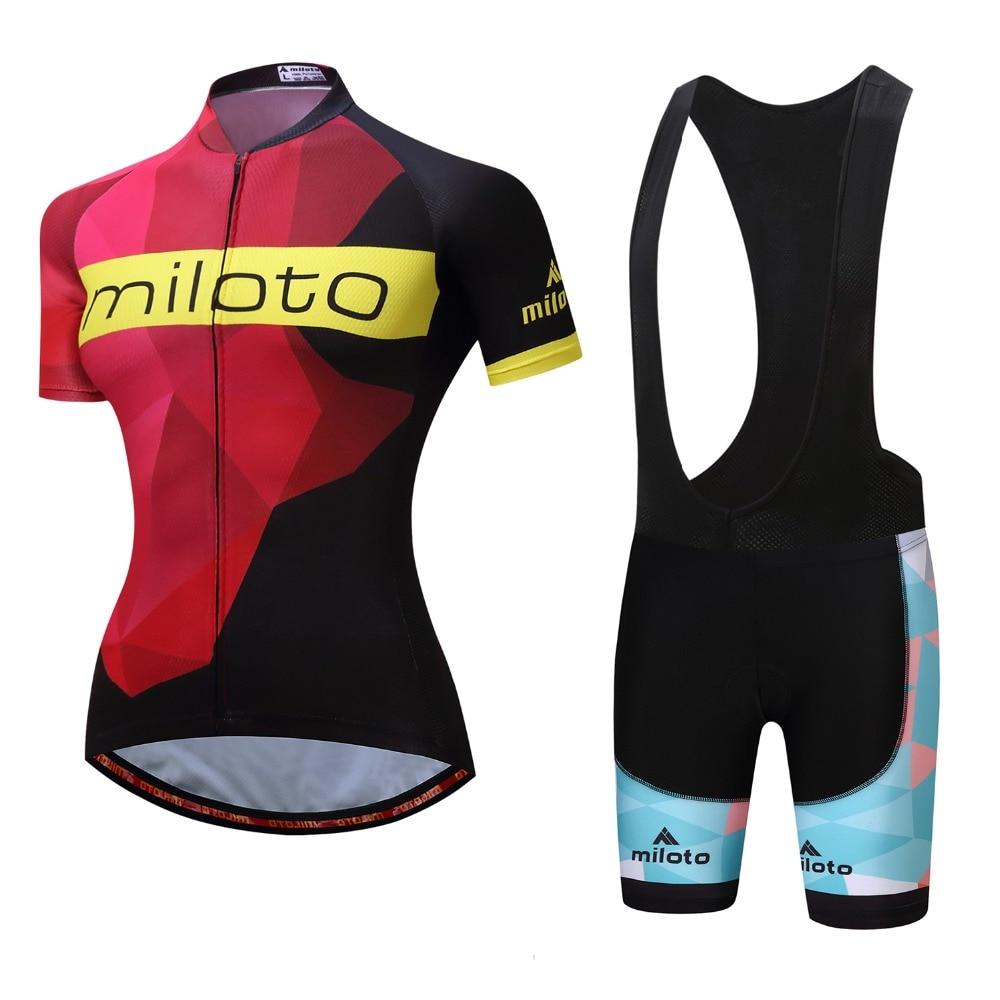 Brand New Women Cool Cycling Jersey Set White/black bib shorts Sportswear Polyester Summer Bike Cycling Clothing Ropa Ciclismo