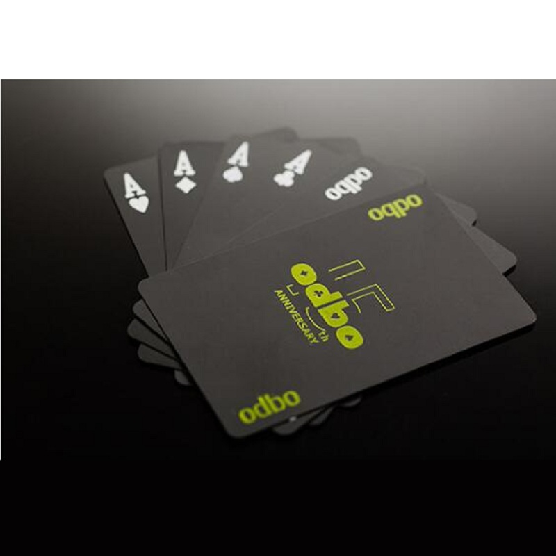 Free shipping Waterproof novelty plastic pvc poker cards deck pure Black color playing card set collection special poker set