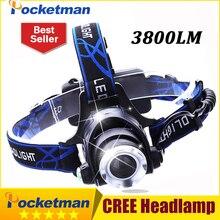 3800LM Headlight CREE T6 LED Head Lamp Headlamp Linterna Torch LED Flashlights Biking Fishing Torch for 18650 Battery ZK94