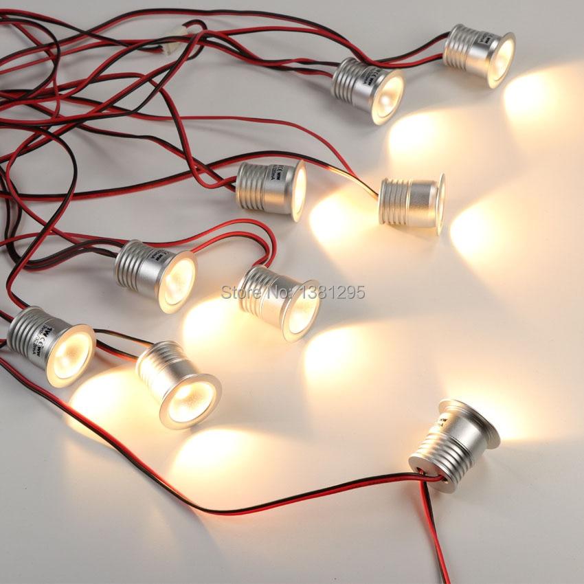 LEDIARY Under Cabinet Mini LED Recessed Downlights Small Ceiling Lamp Cabinet Mini LED Light 3000K 1.5W Spotlight,Small Ceiling Lamp Mini LED Down Light Warm White