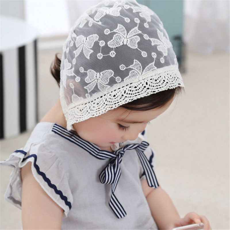Diligent Baby Girls Summer Cap Kids Lace Bow Hat Newborn Child Princess Cool Caps England Aulic Beach Holiday Balt Hats 50cm/0-3t