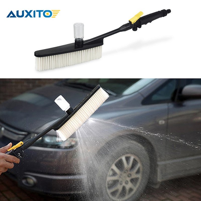 Car Cleaning Brush Handle Water Flow Switch Foam Bottle Auto Cleaning Brush For BMW Toyota Ford Audi Benz VW Nissan Lada Mazda