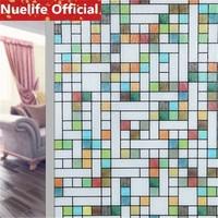 60x200cm Color irregular geometric pattern window glass film bathroom living room office balcony Windows doors glass film