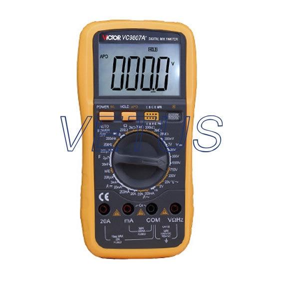 High precision VC9807A+  4 1/2 Digital Multimeter DMM Capacitance frequency 1 pcs mastech ms8269 digital auto ranging multimeter dmm test capacitance frequency worldwide store