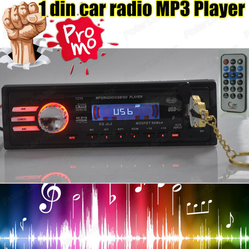 2015 new 12V Car radio player car stereo MP3 Audio Player 5V phone Charger USB/SD/AUX in auto Radio In-Dash one single DIN size