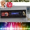 2015 nuevo 12 V Radio de coche reproductor estéreo del coche MP3 reproductor de Audio 5 V cargador de teléfono USB / SD / AUX In de Radio auto en el tablero de una single DIN tamaño