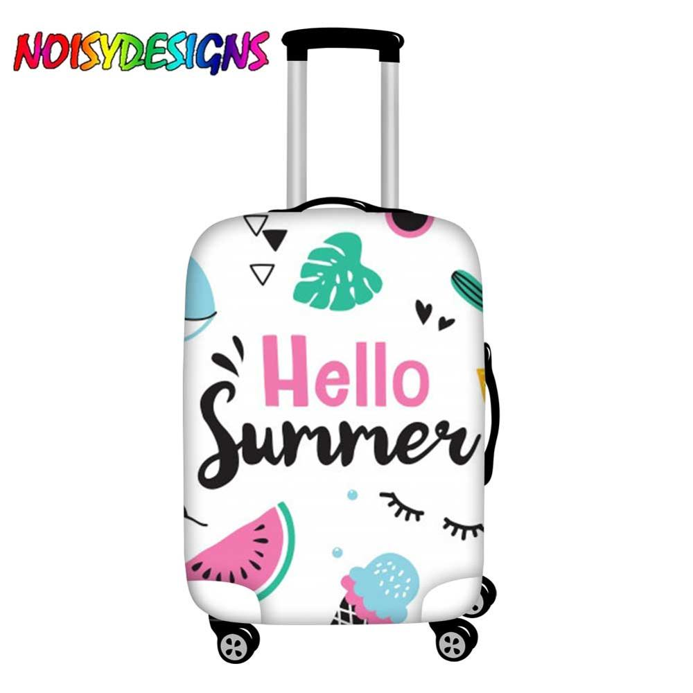 NOISYDESIGNS Cute Luggage Cover Suitcase Hello Summer Designs Suitcase Protective Covers Pineapple Ice Cream Trolley Case Cover