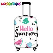 NOISYDESIGNS mignon bagage couverture valise bonjour été conceptions valise housses de protection ananas glace boîtier de chariot couverture
