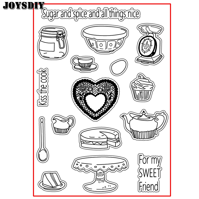 KISS THE COOK FOR MY FRIEND Scrapbook DIY photo cards account rubber stamp clear stamp transparent stamp Handmade card stamp
