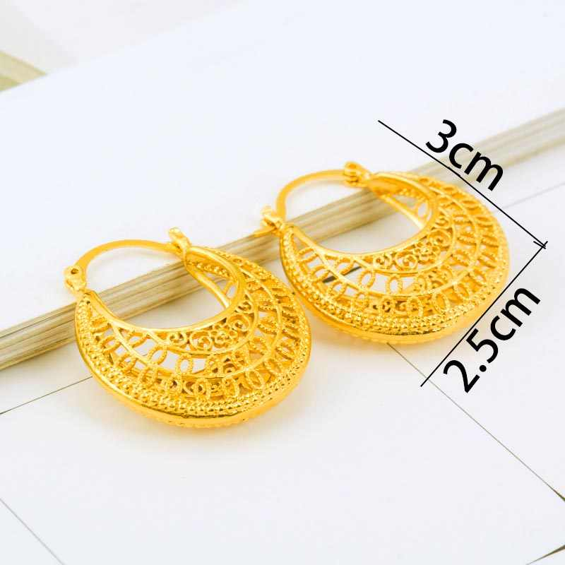 Gold Color Stud Earrings Ethiopian Habesha  Wedding Earrings for Women  Girl Jewelry Arab/Africa Earrings Middle East Gift