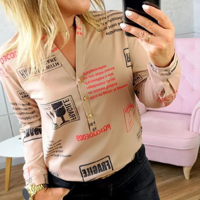 Women's Letters Printed Blouse
