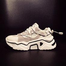 Chunky Sneakers Women Flats Platform Summer Autumn 2019 New Fashion Breathable Casual White Shoes