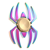 New Colorful Rainbow Spider EDC  Spinner Metal Finger Toy HandSpinner for ADHD Relieve Anxiety Desk Toys Kids Gift