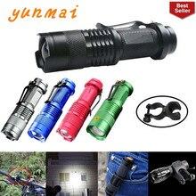 נייד LED פנס Q5 2000lm מיני פנס עמיד למים LED Lanterna 5 צבעים 1 מצבים Zoomable LED לפיד פנס AA 14500