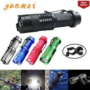 Image 1 - Портативный светодиодный мини фонарик Q5, 2000 лм, водонепроницаемый светодиодный фонарик 5 цветов, 1 режим, масштабируемый светодиодный фонарь, фонарик AA 14500