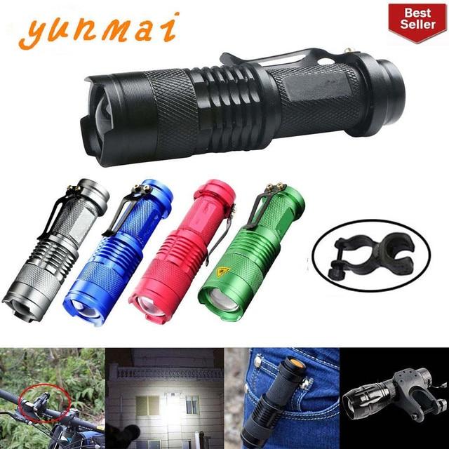 Портативный светодиодный мини фонарик Q5, 2000 лм, водонепроницаемый светодиодный фонарик 5 цветов, 1 режим, масштабируемый светодиодный фонарь, фонарик AA 14500